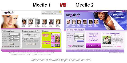Les applications smartphones de Meetic